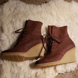 Paul Green Brown Leather Booties